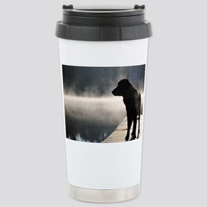 Flat Coat in the Fog Stainless Steel Travel Mug