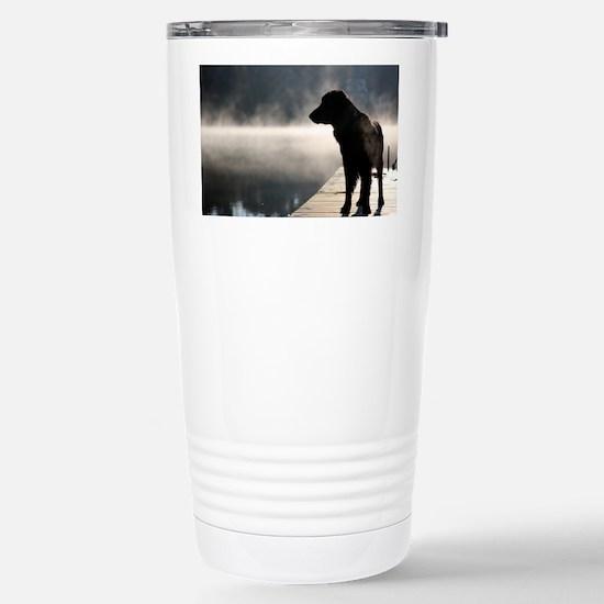Flat Coat in the Fog Stainless Steel Travel Mug