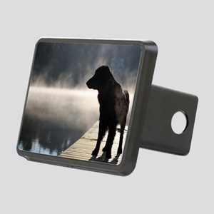 Flat Coat in the Fog Rectangular Hitch Cover