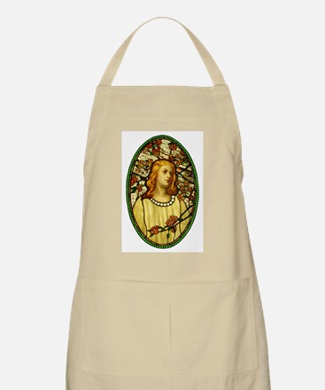 Girl With Cherry Blossoms BBQ Apron