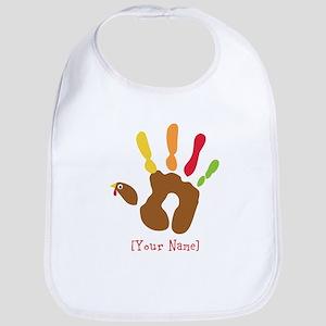Personalized Turkey Hand Bib