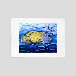 Something Fishy 5'x7'Area Rug