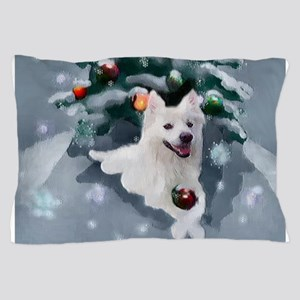 American Eskimo Dog Christmas Pillow Case