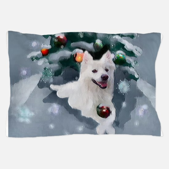 American Eskimo Dog Christmas Pillow Case