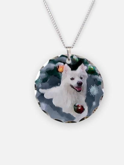 American Eskimo Dog Christma Necklace