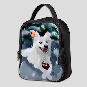 American Eskimo Dog Christmas Neoprene Lunch Bag