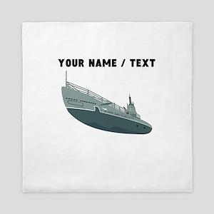Custom Navy Ship Queen Duvet