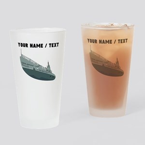 Custom Navy Ship Drinking Glass