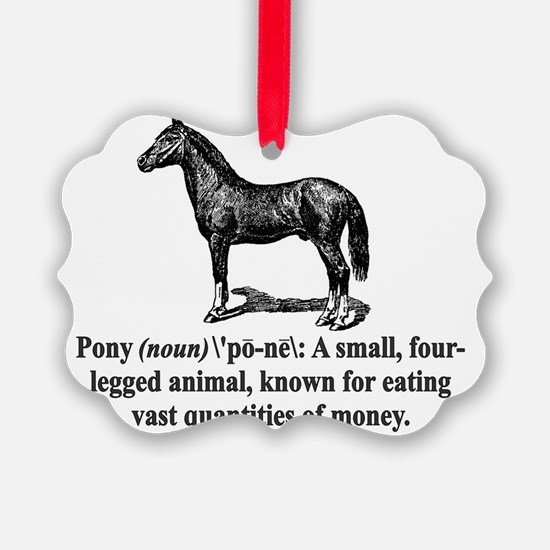 Pony Definition Ornament