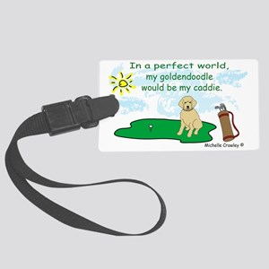 Goldendoodle Large Luggage Tag