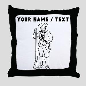Custom Revolutionary War Soldier Throw Pillow