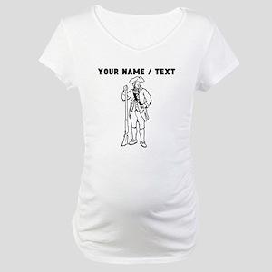 Custom Revolutionary War Soldier Maternity T-Shirt