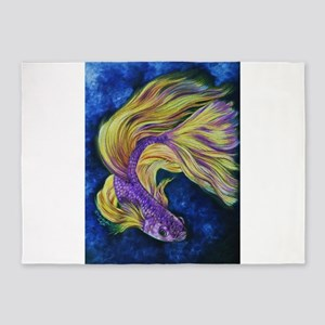 Purple Betta 5'x7'Area Rug