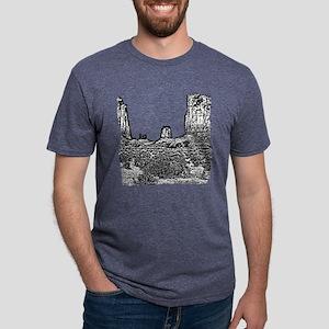 B@W The North Window, Monum Mens Tri-blend T-Shirt