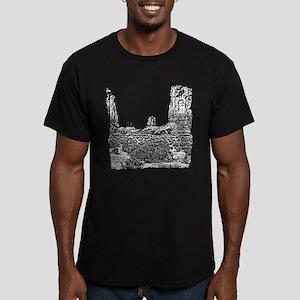 B@W The North Window, Men's Fitted T-Shirt (dark)