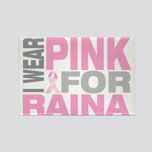 I-wear-pink-for-RAINA Rectangle Magnet