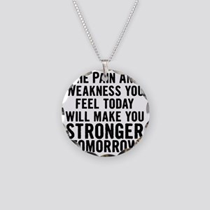 stronger-tomorrow Necklace Circle Charm
