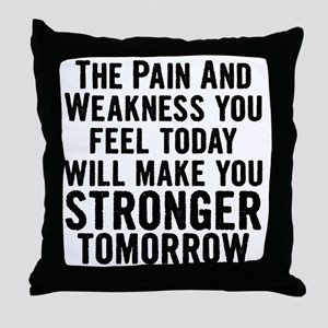stronger-tomorrow Throw Pillow