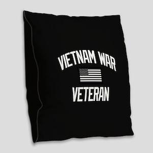Vietnam War Veteran Burlap Throw Pillow