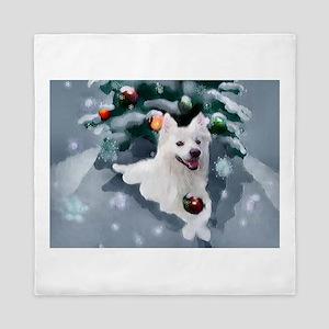 American Eskimo Dog Christmas Queen Duvet
