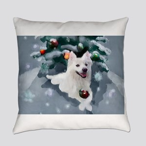 American Eskimo Dog Christmas Everyday Pillow