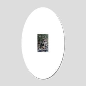 Thank you Chareslton 2 20x12 Oval Wall Decal