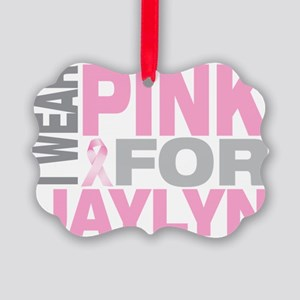 I-wear-pink-for-JAYLYN Picture Ornament