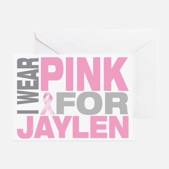 I-wear-pink-for-JAYLEN Greeting Card