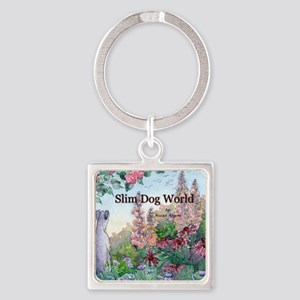 wh str lazy days cover Square Keychain