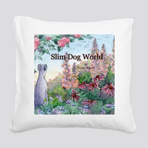 wh str lazy days cover Square Canvas Pillow