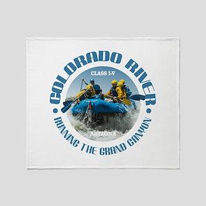 Colorado River (rafting) Throw Blanket