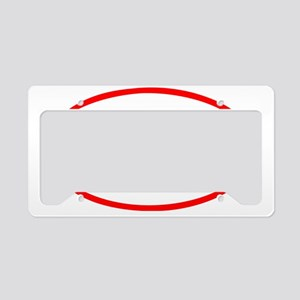 Give Blood_Rugby_Wht License Plate Holder