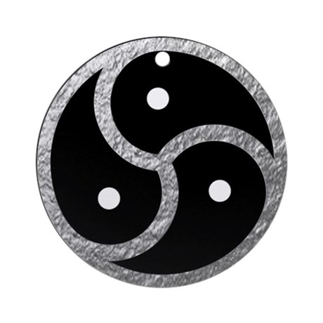 Silver BDSM EMBLEM SYMBOL Round Ornament By AdminCP9113865