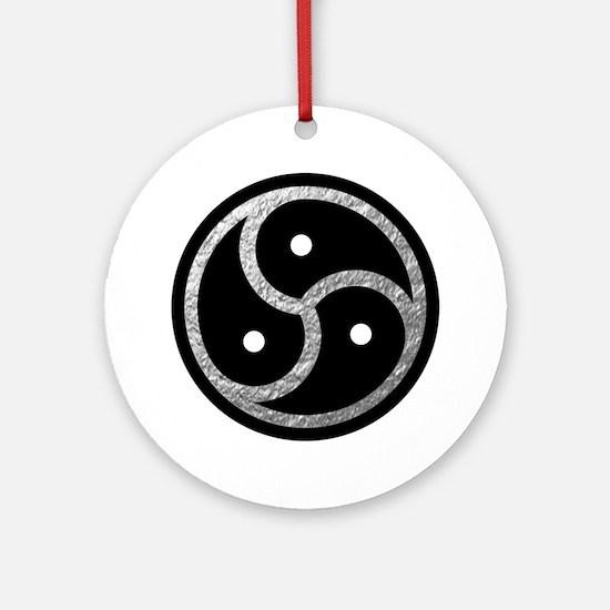 Silver BDSM EMBLEM - SYMBOL Round Ornament