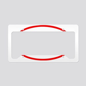 Give Blood_Rugby License Plate Holder