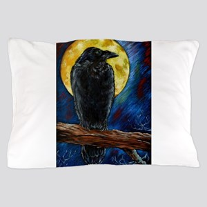 Raven Moon Pillow Case