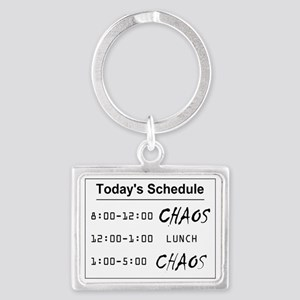 Organized Chaos - larger Landscape Keychain
