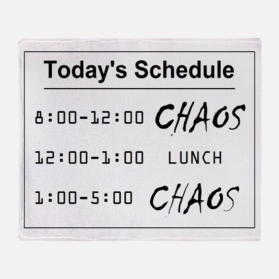 Organized Chaos - larger Throw Blanket