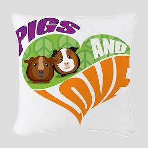 pigsnloveK Woven Throw Pillow