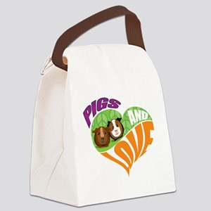 pigsnloveK Canvas Lunch Bag