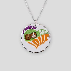 pigsnloveK Necklace Circle Charm