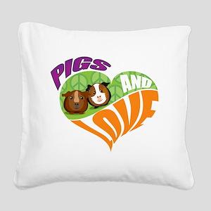 pigsnloveK Square Canvas Pillow