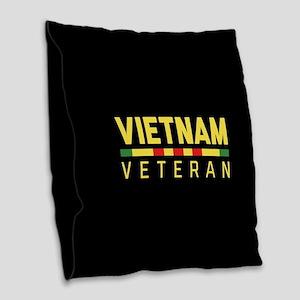 Vietnam Veteran Burlap Throw Pillow