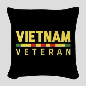 Vietnam Veteran Woven Throw Pillow