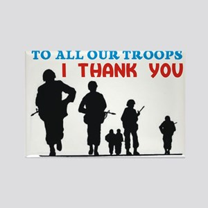 thank all our troops Rectangle Magnet