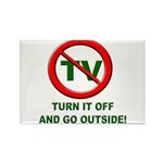 Turn Off The TV Rectangle Magnet (10 pack)