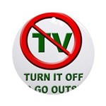 Turn Off The TV Ornament (Round)