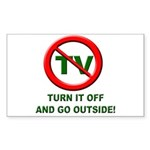 Turn Off The TV Rectangle Sticker