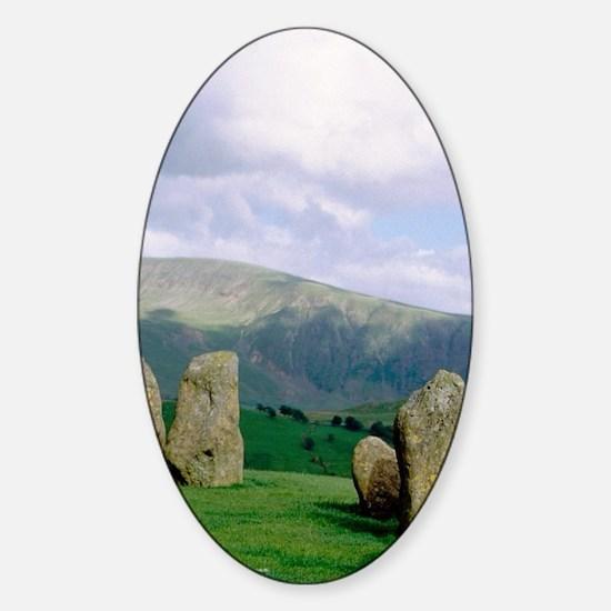 Keswick. Castlerigg stone circle La Sticker (Oval)