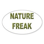 Nature Freak Oval Sticker